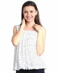 FR White Women''S Sleeveless Top