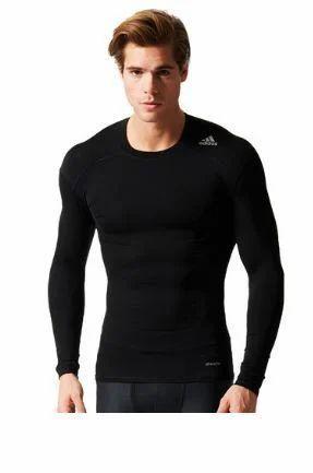 642dad18 Black 88% Polyester And 12% Elastane Mens Adidas Techfit Base Tee ...