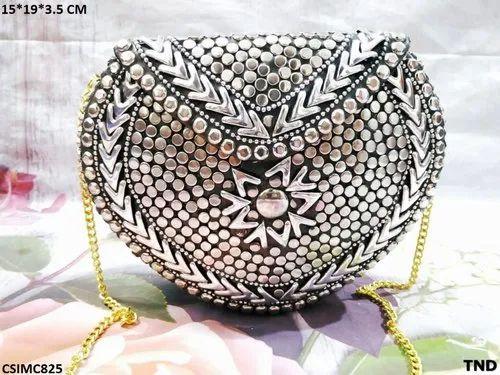 Beautiful Shiny Mosaic Clutch