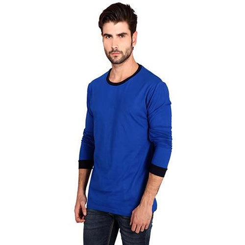 9c4583013c Men  s Cotton Full Sleeves Plain Royal Blue T-Shirt