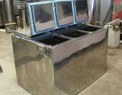 Stainless Steel Ice Cream Square Box
