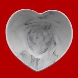 Heart Shape Marble Bowl, Size: 10 Inch