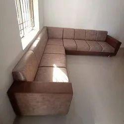 Leather Modern Designer Wooden Sofa Set for Sitting