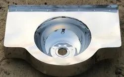 Stainless Steel Modified Washbasin For Railways