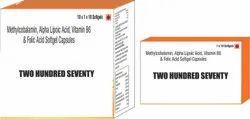 Methylcobalamin Alpha Lipoic Acid Vitamin B6 Folic Acid Softgel Capsules
