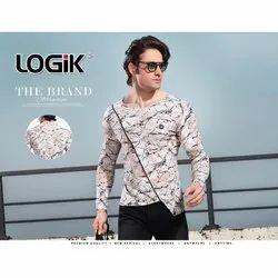 Logik Cotton Men Full Sleeve Printed Round Neck Full Sleeve T Shirt