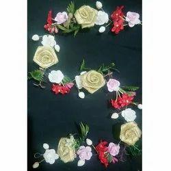 Artificial Flowers Tiara Brooch
