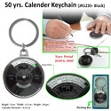 50 yrs Metal Calender Keychain JR1235 (Black)