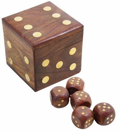 Wooden Dice Box Lakdi Ka Paasa Box Decor N Utility Craft Nagina