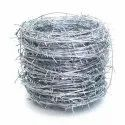 Silver Galvanized Iron Gi Barbed Wire, For Use In Fencing, Size: 80 Meter (length)