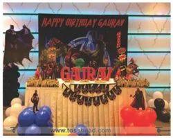 Birthday Party Super Hero Theme Balloon Decoration, Bengaluru, Birthday