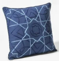 16 X 16 Inch Navy Celtic Embroidery Cushion Cover