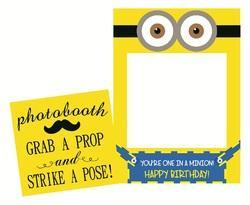 Photo Booth Props Frame and Signage