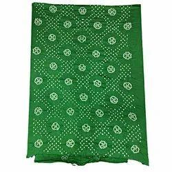 All Over Green Fancy Design Cotton Bandhani Kurti