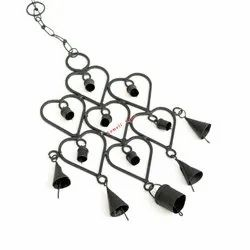 Wrought Iron Large Size Cluster of Bells Garden Decoration