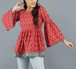 Printed Western Designer Fancy Tops for Women
