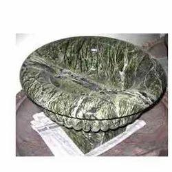 Round Stone Flower Pot