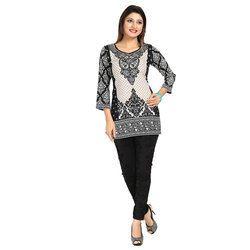 Ladies 3/4th Sleeves Digital Printed Tunics