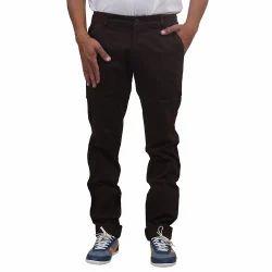 Mens Satin Lycra Black Coffee Trouser, Size: L