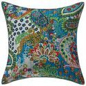 Kantha Printed Home Decor Cotton Hippie 16X16 Cushion Cover