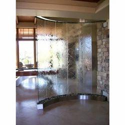 Transparent Toughened Glass, Shape: Curve