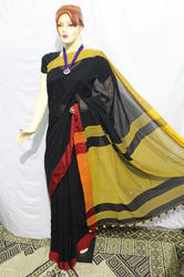Solid Cotton Khadi Handloom Saree, Hand Made, 6.3 M (with Blouse Piece)