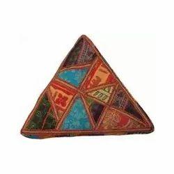 Triangle Ottoman Pouf