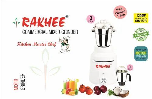 1200 Watt Rakhee Canteen Commercial Mixer Grinder - White
