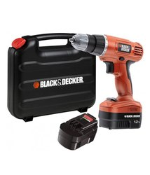 BLACK&DECKER 12 V 10 MM Cordless Drill Driver, Model Name/Number: Epc12, 0 - 400 / 0 - 1500 Rpm