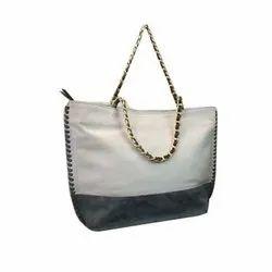 Khandelwal Exims White, Black Designer Leather Handbag