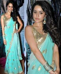 Bollywood Designer Aquamarine Saree 510