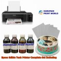 Epson Edible Tank Printer Complete Set Including 4 Edible Ink Bottles & 25 Icing Sheets