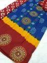 Kuchhi Work With Bandhej Salwar And Dupatta Material