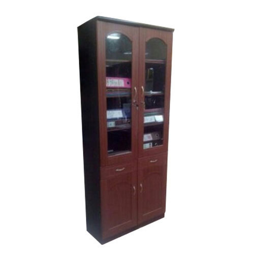 Wooden Book Cabinet, Height: 6 Feet
