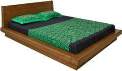 Brown Wooden Down Flooring Bed