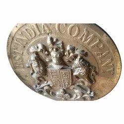 Antique Brass Logo Plate