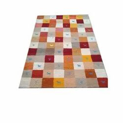 Printed Rectangular Hand Knotted Room Carpet, For Home, Size: 5x8 Feet