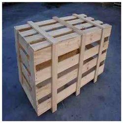 Rectangular Wooden Packing Crate