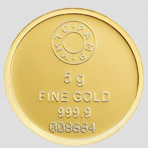 5 Gm Gold Coin Lotus Kuber Silverwares Gifts Wholesaler In