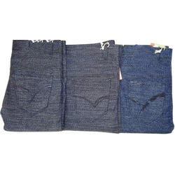 Cotton Grey And Blue Mens Casual Pants
