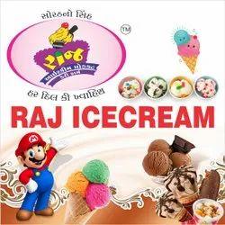 RAJ Flavours: VARIOUS KAJU DRAKSH ICE CREAM, Packaging Type: Box