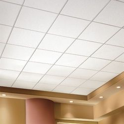 Mineral Board Grid False Ceiling Work