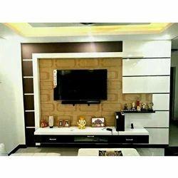 White And Black Designer TV Wall Unit