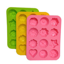 Silicone Rubber Cake Mould, Capacity: 12