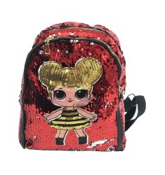 Doll Printed Sequin Kids Backpack