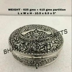 Silver Plated Oval Box