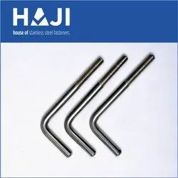Round Stainless Steel L Bolt, Size: M6 To M12
