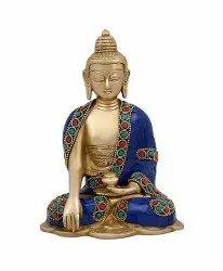 Brass Gold Plated Buddha Statue