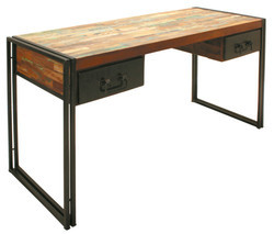 Wooden Computer Desk , Reclaimed Wood Writing Table