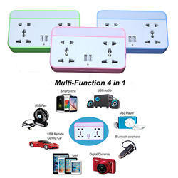 Auto LED Night lamp With USB Multi Socket
